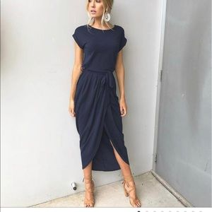 Navy blue dress shown in picture